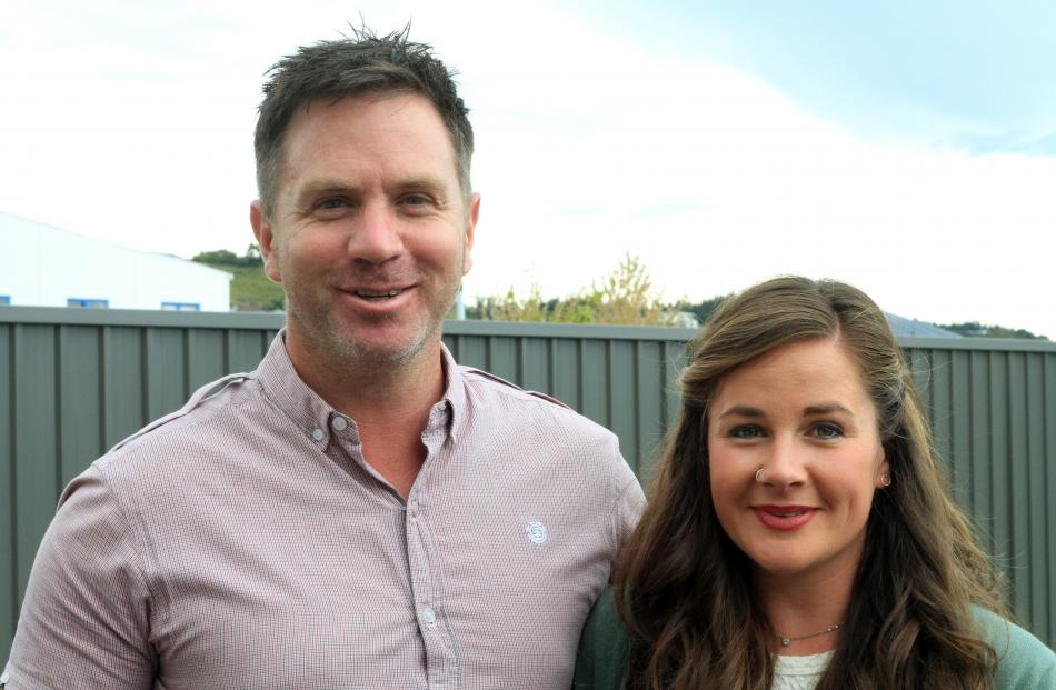 Damian Brown and Erin Walshe, both of Oamaru.