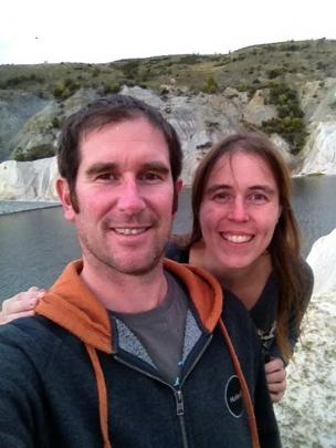 Doc's Gavin Walker and partner Marielle Thomson at St Bathans. Photo: Supplied