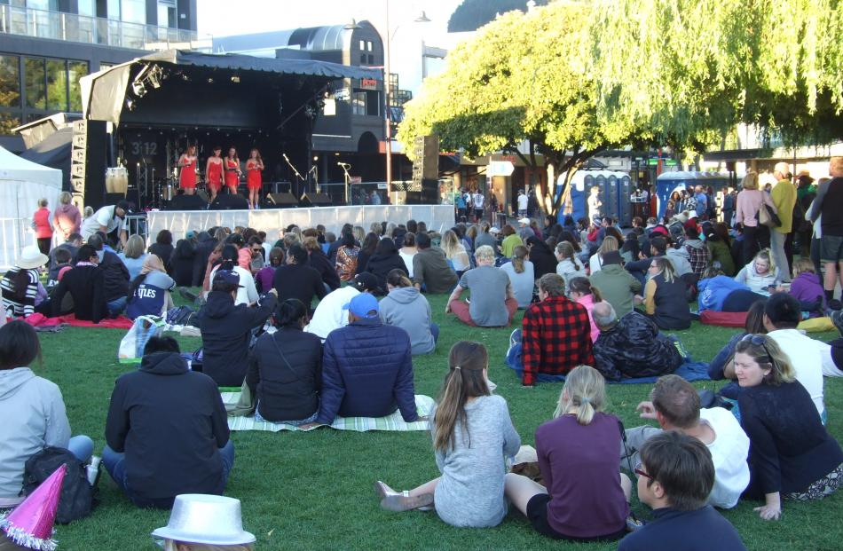 Queenstown's events included live music in Earnslaw Park. Photo: Guy Williams