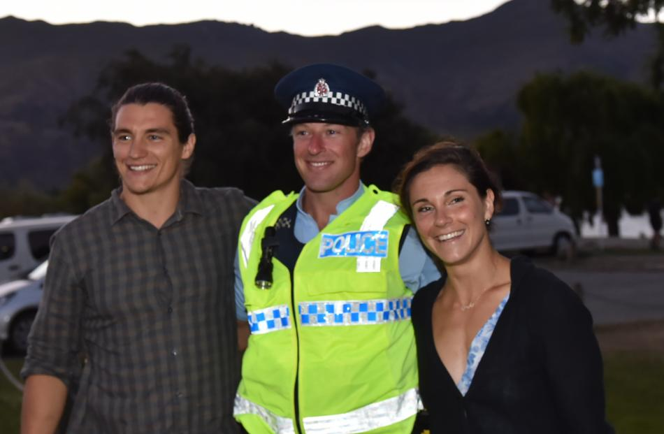 Mixing and mingling with the crowd on New Year's Eve in Wanaka was Constable TIm Roy, of Dunedin,...