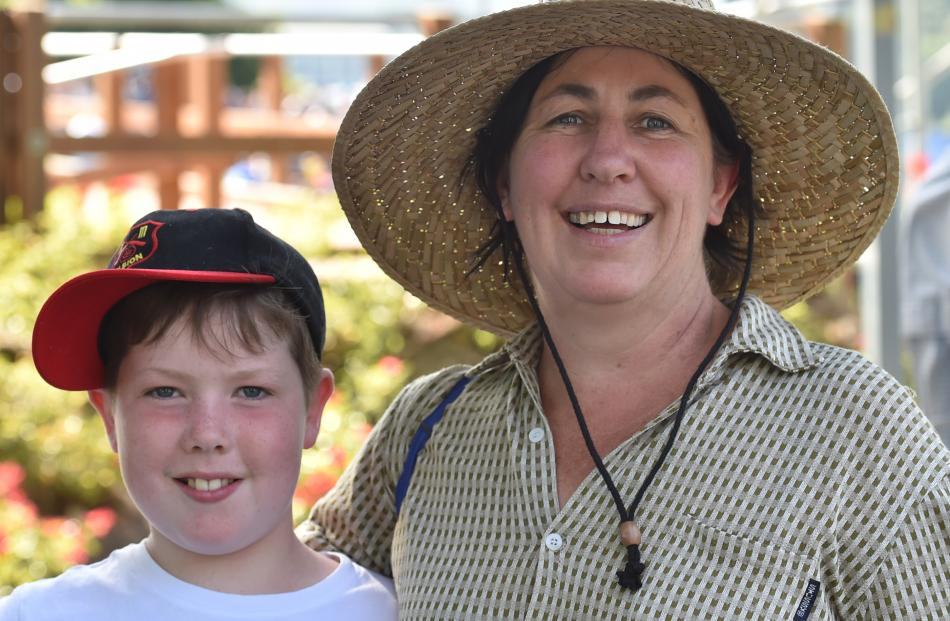Thomas King (10) and Ruth Myers, both of Dunedin.