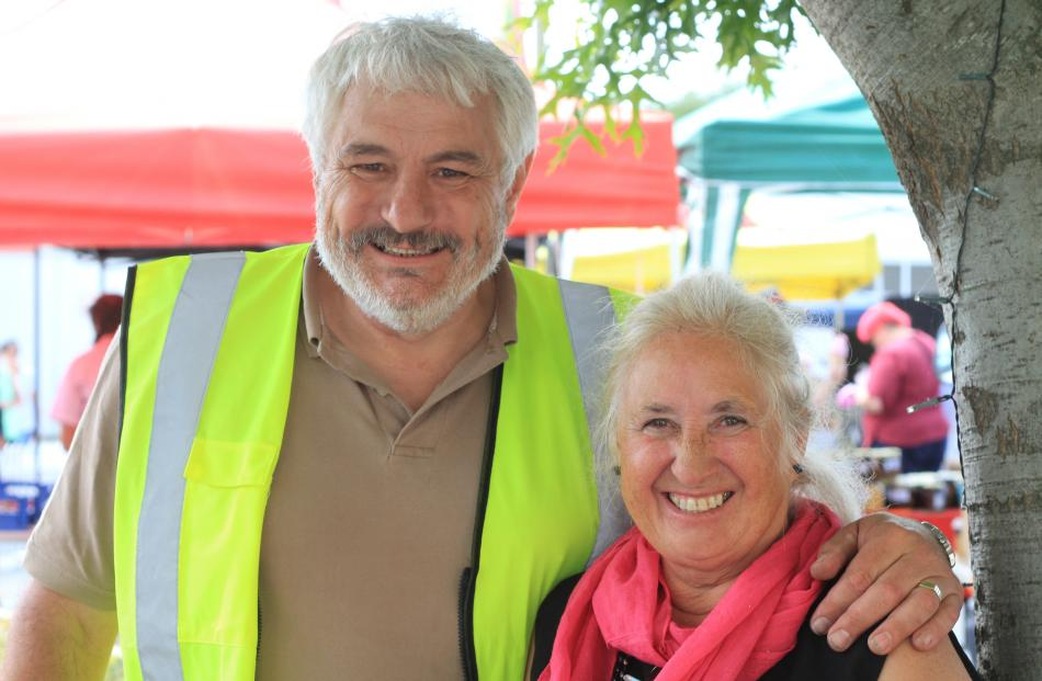 Kurow Festival Market Day committee members Jon Brocas and Karen Hofman, both of Kurow.