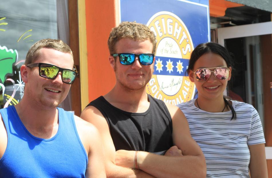 Ash Wear, of Christchurch, Austin McCaw, of Kurow, and Petaera Grant, of Oamaru.