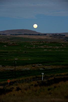 Reid McNaught says the view of the supermoon over the Strath Taieri was perfect for listening to...