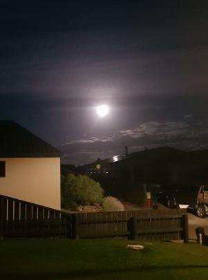 The wolf moon shines bright over Cromwell.  Photo: Leigh-Anne Steel