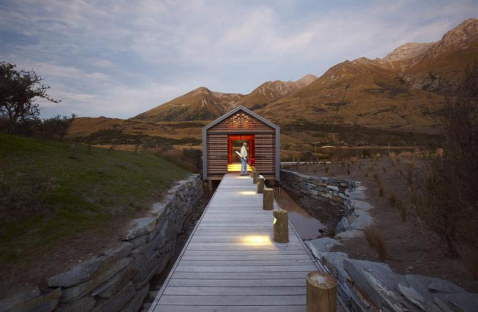 The Wyuna boat shed at Glenorchy by Crosson Clarke Carnachan Chin Architects. Photo supplied.