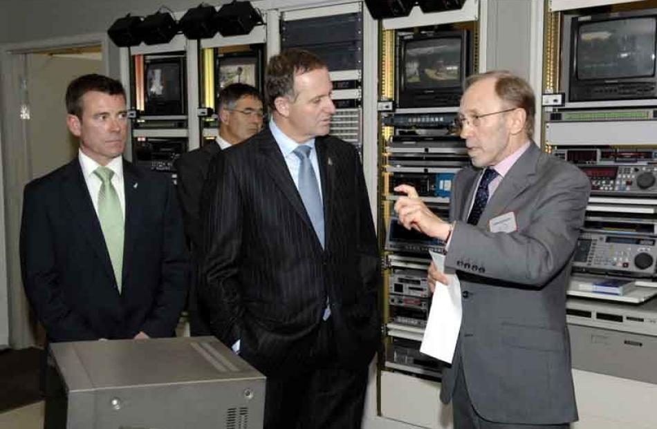 (From left) MP Michael Woodhouse, Mayor Dave Cull, PM John Key and NHNZ Managing director Michael...