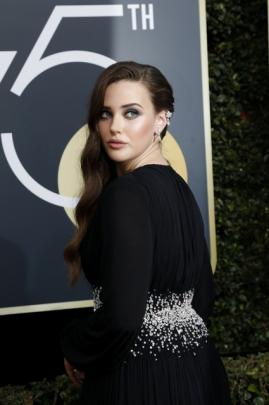 Actress Katherine Langford is nominated for Best Actress in a Television Series – Drama for her role in '13 Reasons Why'. Photos: Reuters