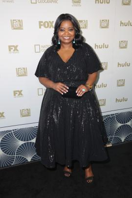Octavia Spencer wearing Tadashi Shoji. Photo: Getty Images