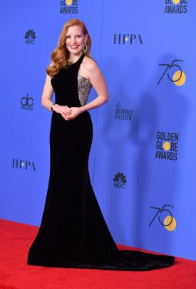 Jessica Chastain wore a gown by Armani Privee. Photo: Getty Images