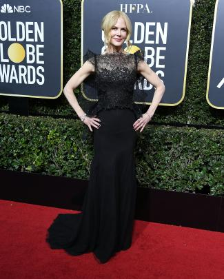 Golden Globe winner NIcole Kidman in Givenchy. Photo: Getty Images