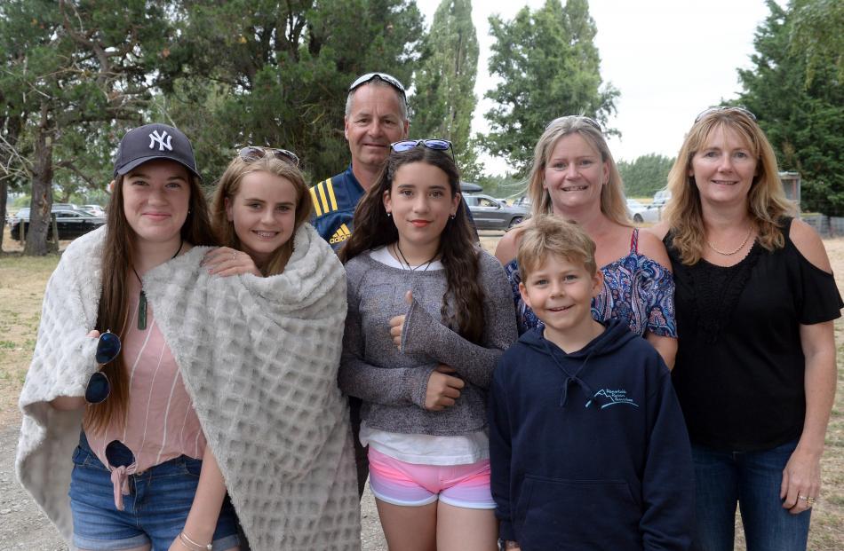 Michaela Crosbie (14) of Clyde, Kaitlyn McKay (13) of Queenstown, Brent McKay of Queenstown,...
