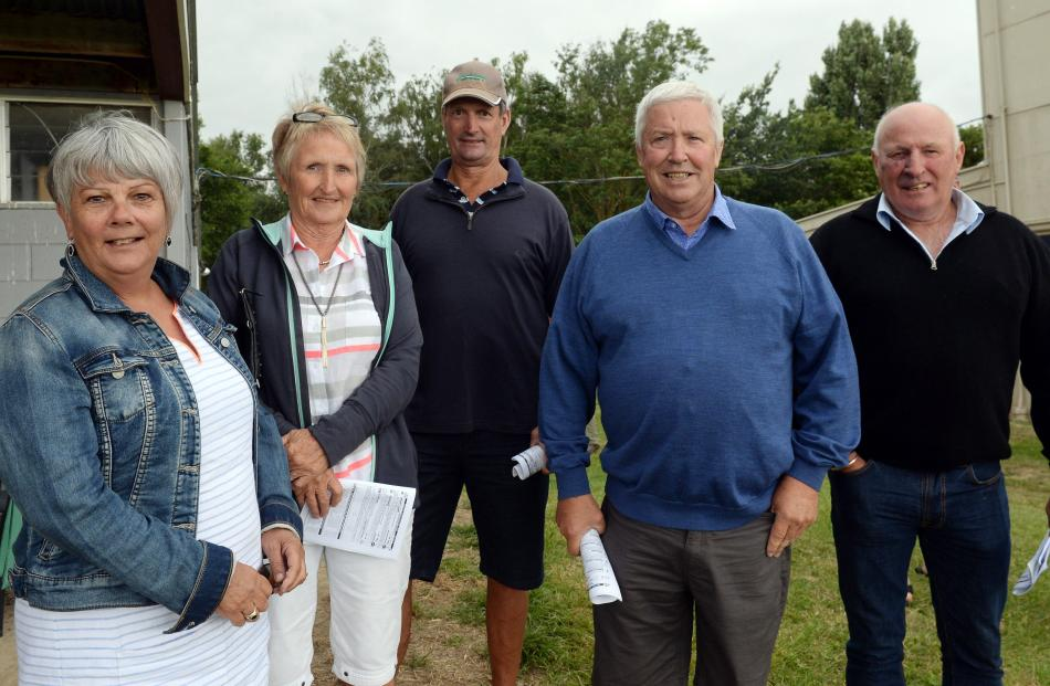 Alison Kean of Mosgiel, Sue and Ian Nichol of Outram, Ray Kean of Mosgiel and Kevin White of Clyde.