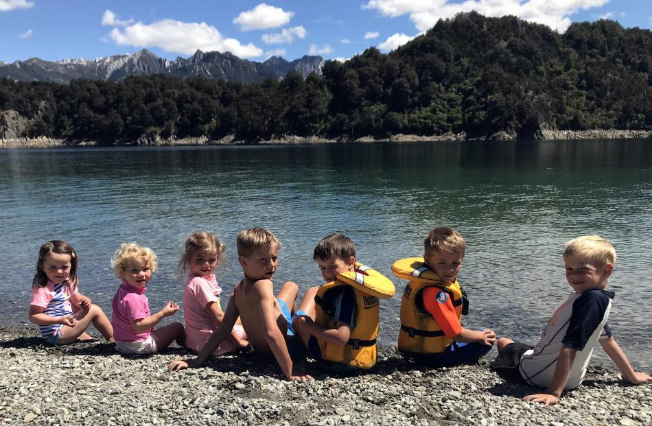 Cousins (from left) Grace Killeen (2), Zara Ryan (23 months), Ava Ryan (5), Alex Ryan (8),...
