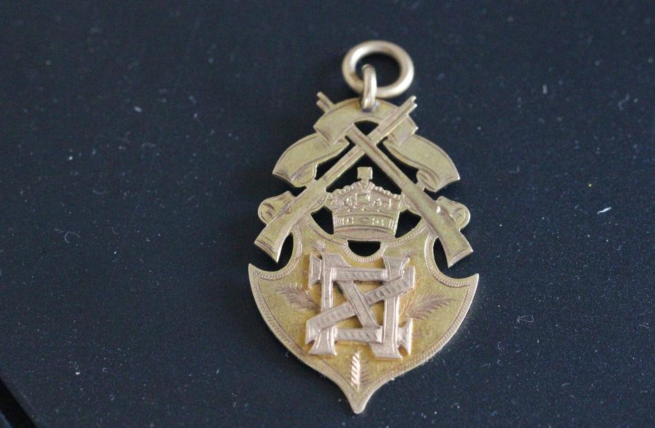 Obverse of a presentation fob given to Sam McMillan to acknowledge his war service.