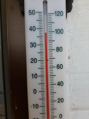 Kimberly Thom posed it was 37 in Allanton about 1pm.