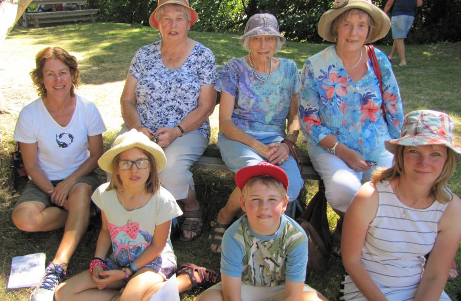 Back: Rebecca Kilkelly, of Christchurch, Ruth Kilkelly, of Omakau, Sally Throp, of Mosgiel, Ainsley Webb, of Cromwell; front: Tully Greene (9), of Lumsden, Jesse Mechen (7), of Christchurch, Helen Throp, of Mosgiel.