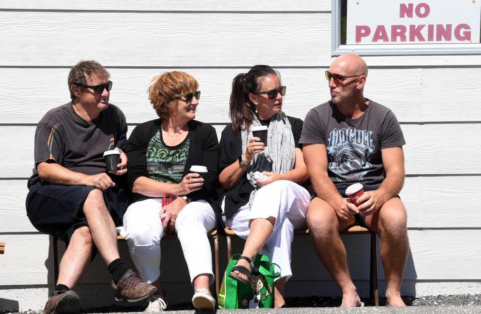 Ashley and Lynda Duncan, of Dunedin, Karen Broad and Blair Stephens, both of Kaka Point.