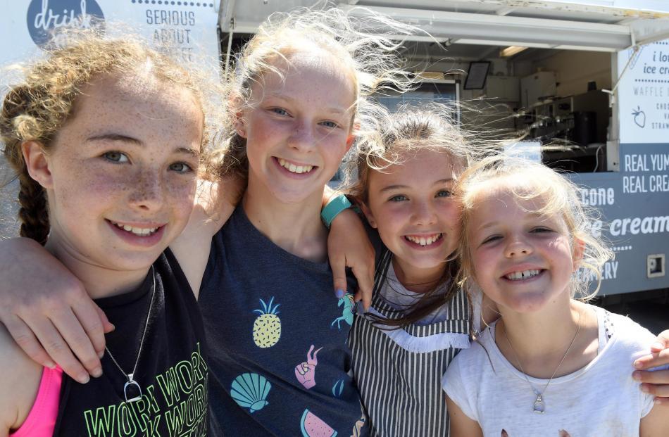 Chloe McKenzie (12), of Balclutha, Katy Gilder (12), of Paretai, Ella McKenzie (10), of Balclutha and Sophie White (9), of Edendale.