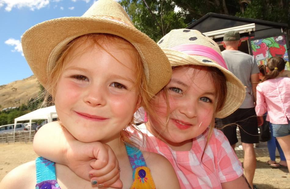 Lily Haugh and Maia Van Tuyl, both 4 and of Arrowtown.