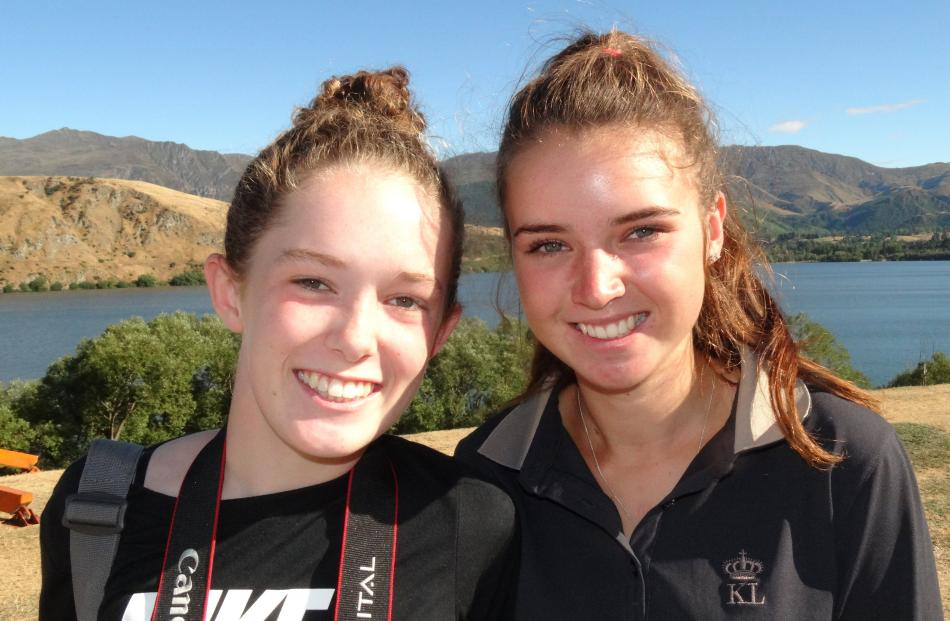 Phoebe Boyd (14), of Australia, and Ava Plimmer (16), of Wanaka.