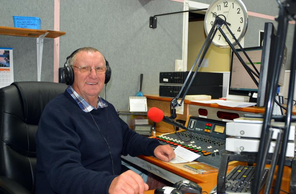 ''Johnboy'' John Methers, of Palmerston, announcing on the breakfast show on Puketapu Radio 756AM...