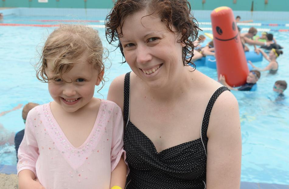 Isabel Sinclair (5) and her mum, Christine Susic, of Dunedin.