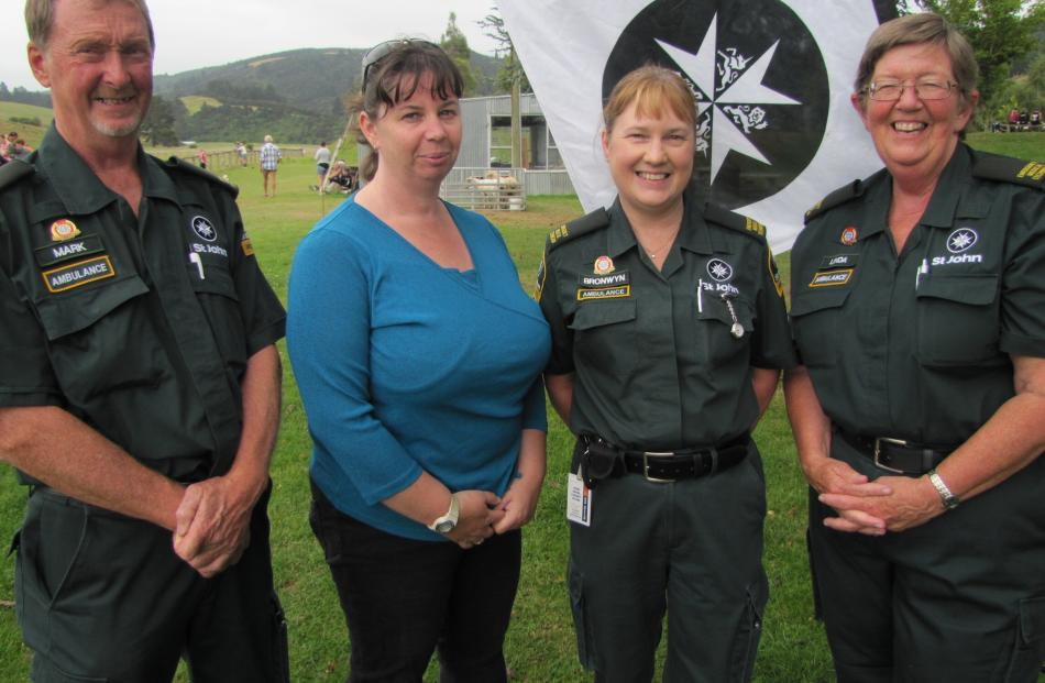 Mark Chapman, Roanne Heppel-Pukehika, Bronwyn Paterson and Linda Howell, all of Lawrence.