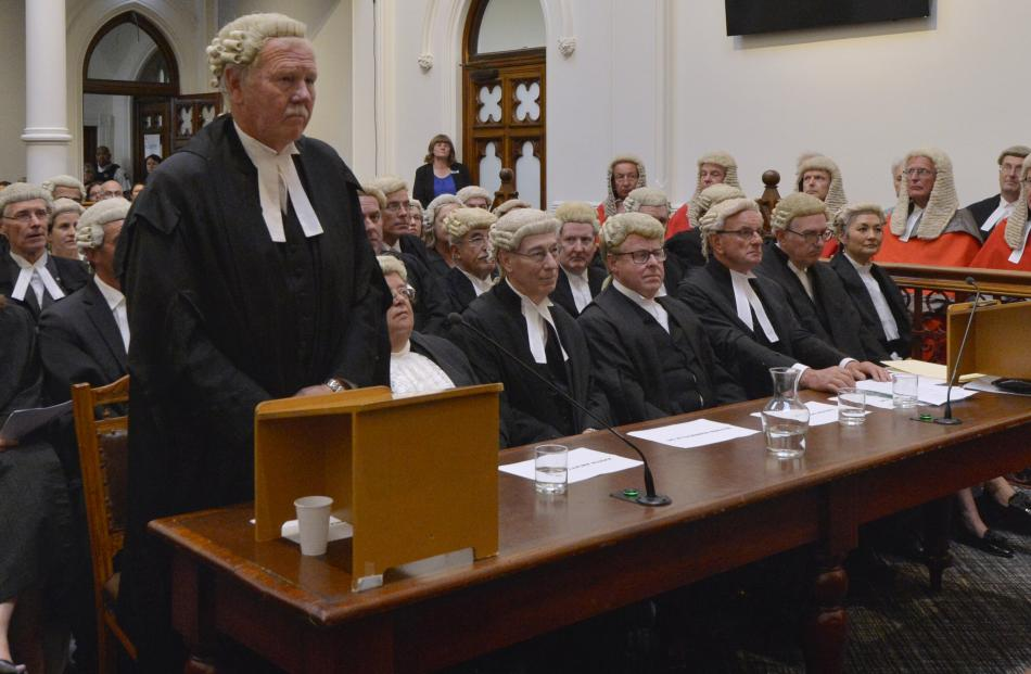 Colin Withnall QC was joined by a host of other legal luminaries for a ceremonial sitting of the...