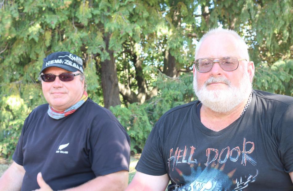 Peter Garrick, of Blenheim, and Klaus Steigerwald, of Germany.