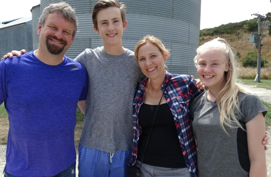 Graham, Taylor (15), Sherilyn and Brydie (12) Morton, of Oamaru.
