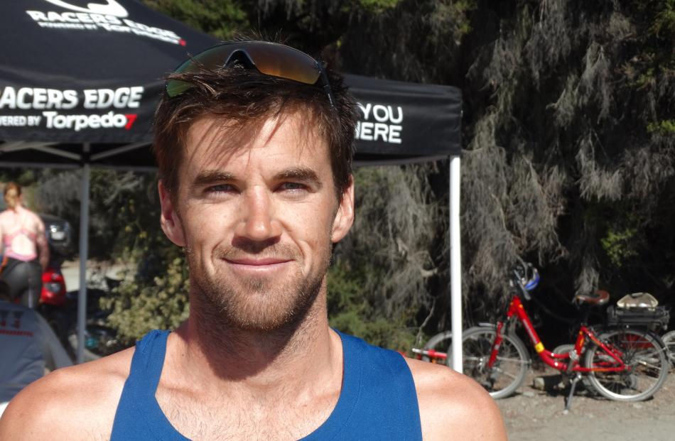 Rio Olympian Tony Dodds, of Wanaka, won The Ruby 2.5km swim.