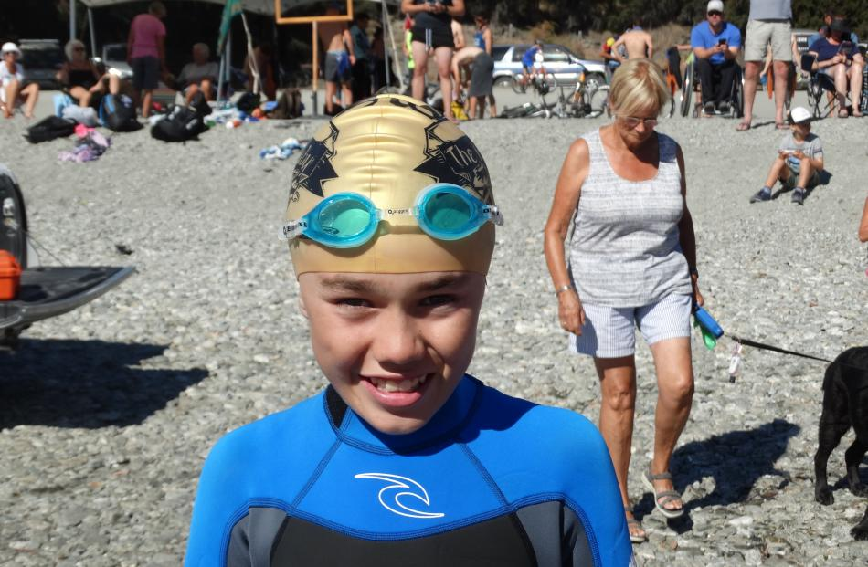 Hunter Tuck (11), of Wanaka, just before the Little Gems race.