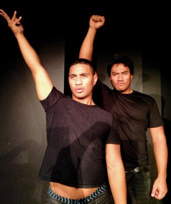 Beulah Koale and Fasitua Amosa in Black Faggot (2014 version). Photo: Karin Williams