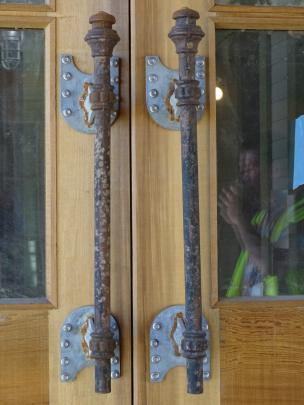 Dan Kelly-designed touches, including these door handles, are everywhere at Camp Glenorchy.