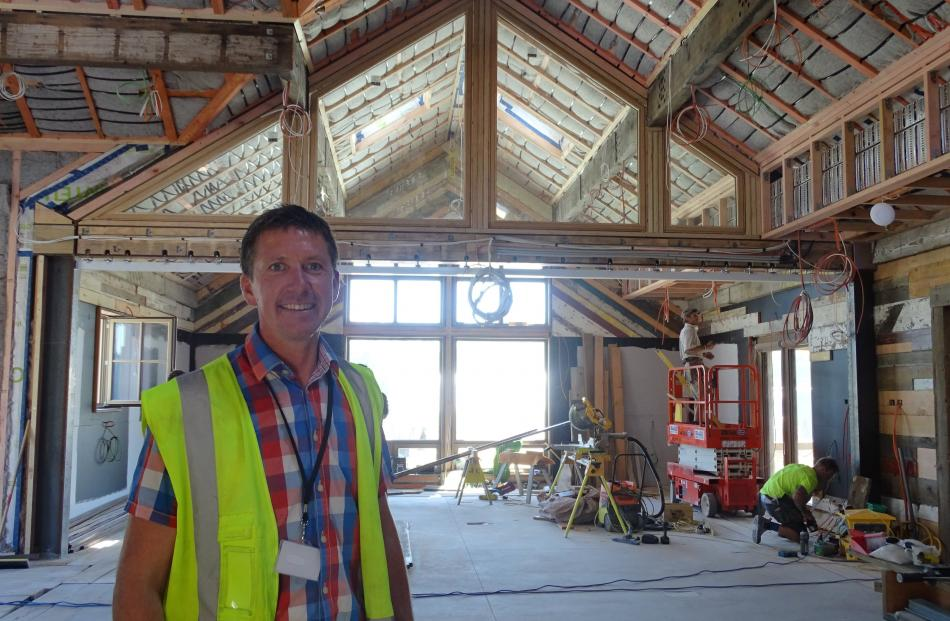 Camp Glenorchy project manager Steve Hewland inside the site's events space, which can be split...