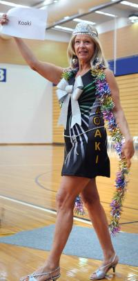 Sharon Butterworth leading her team.
