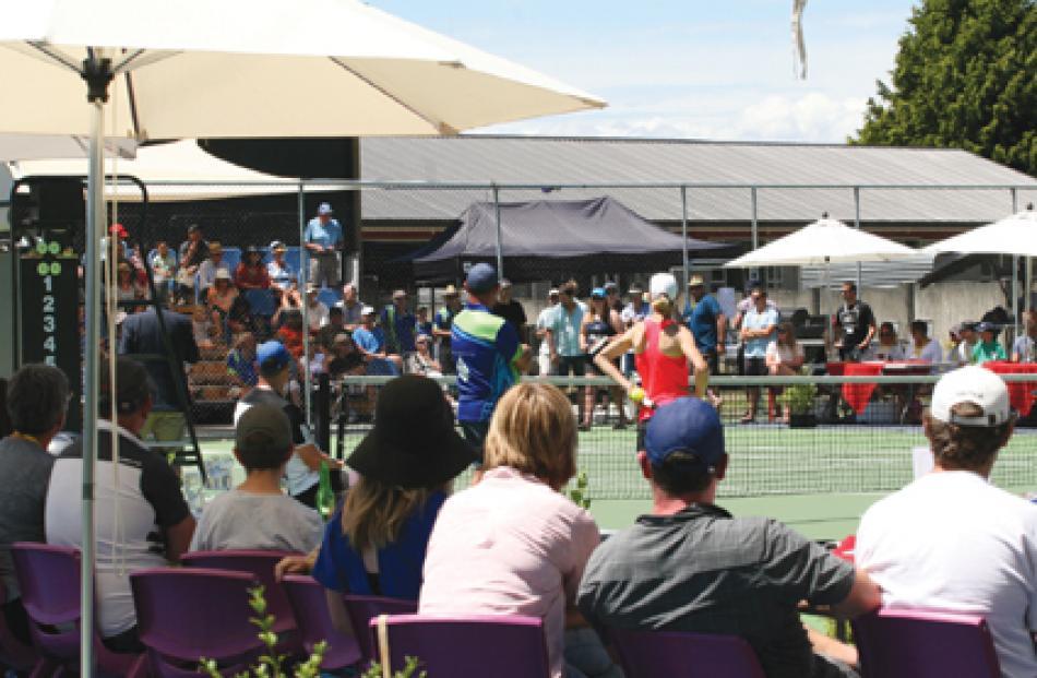 Courtside at the Te Anau Tennis Invitational. Photos: Julie Walls