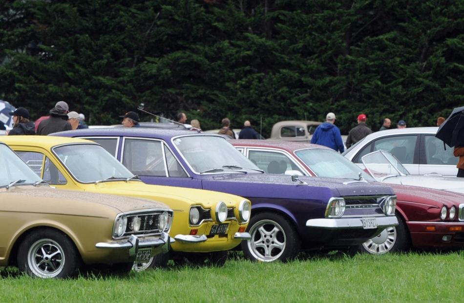 Some of the cars on show.