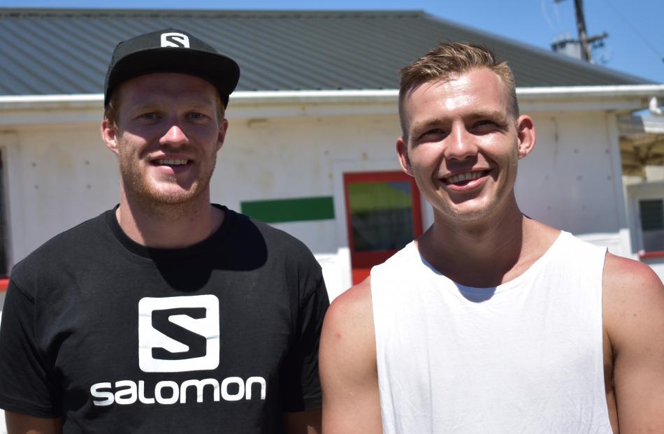 Niall Sutherland and Nick Haselhoff, both of Wanaka.