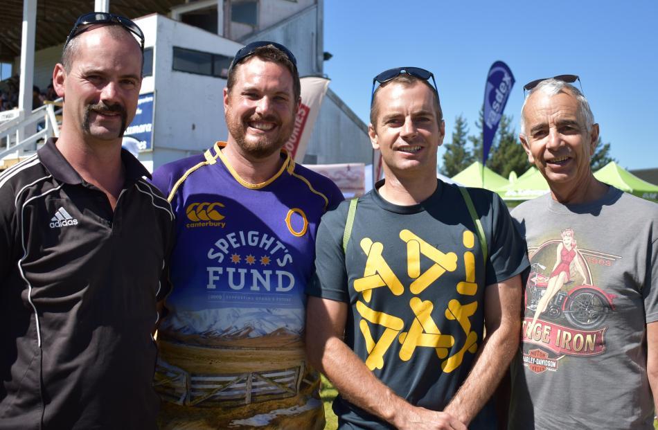 Tony McGrath, Cory Button, Scott Payne and Warren Payne, all of Dunedin.