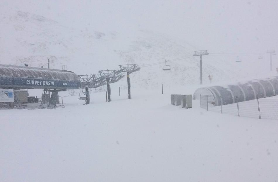 View from The Remarkables base building to Curvey Basin chairlift. Photo: supplied