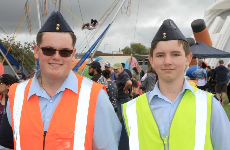 ATC Oamaru 26th Squadron cadets Jason Shieffelbein (15), and Gregory Keith (14), both of Oamaru.