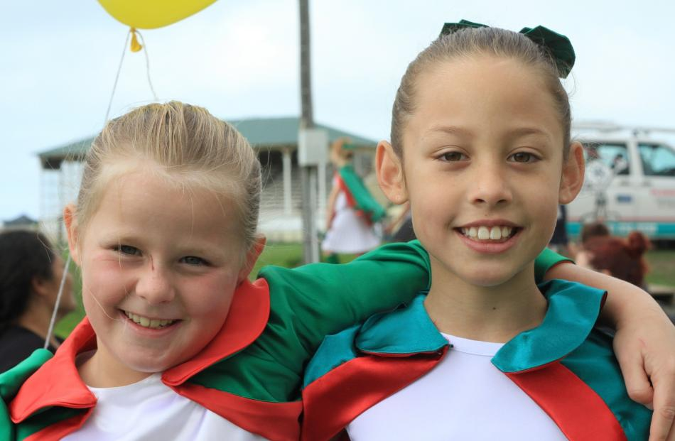 Lily Murphy (7), of Glenavy, and Daphnee Compton (9), of Oamaru.