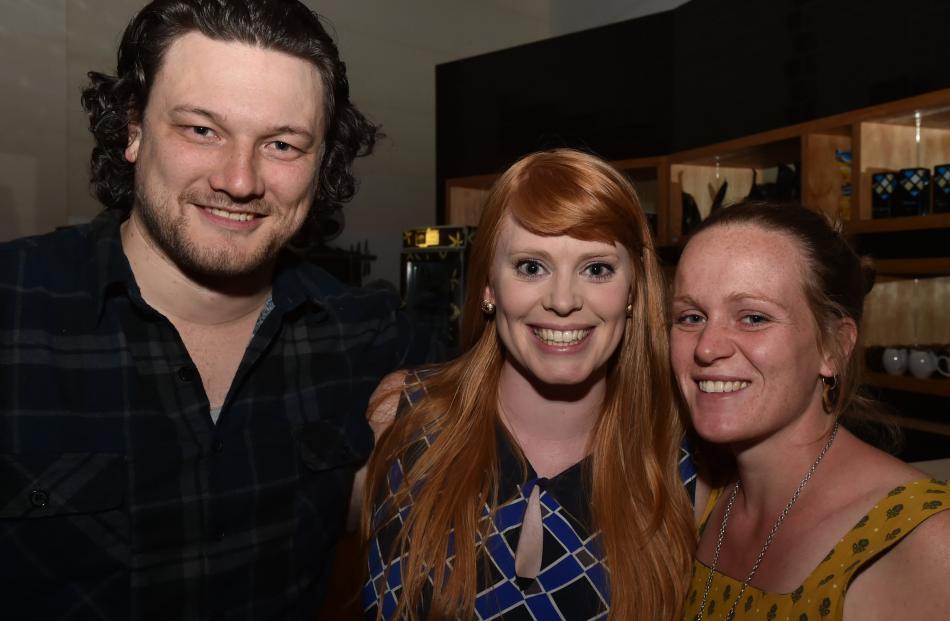 Ryan Mulligan, Tamsyn Sutherland and Ashley Gilbert, all of Dunedin.