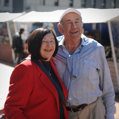 Melbourne couple Wendy and Murray Dance (right) arrived in Dunedin yesterday aboard the luxury...
