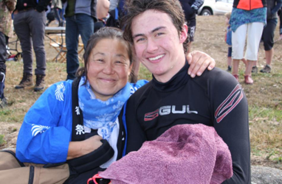 15 year old Riku Darroch and his mother Izumi of Te Anau. Riku has undertaken the event three...