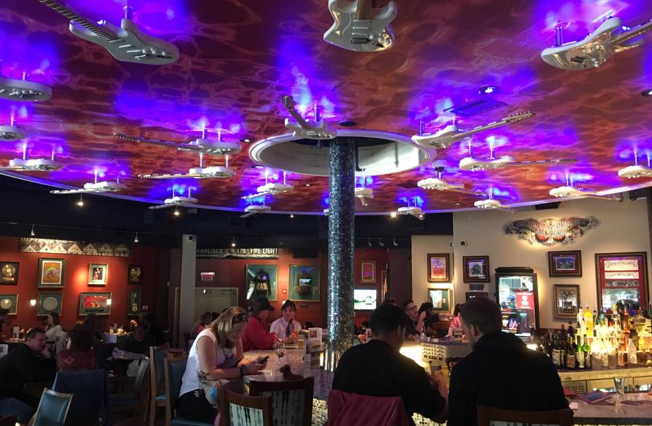 Hard Rock Cafe, complete with vintage carousel bar feature.