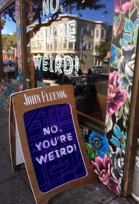 A colourful shop front in the Haight-Ashbury district.