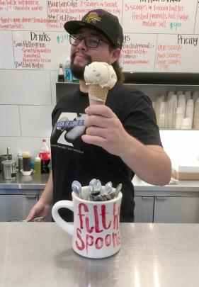 Only in America! ''Secret Breakfast'' icecream to start the day.